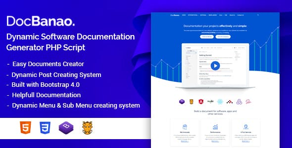 DocBanao - Dynamic Software Documentation Generator PHP Script