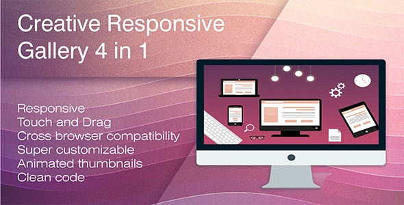 Creative Responsive Gallery 4 in 1 - CodeCanyon Item for Sale