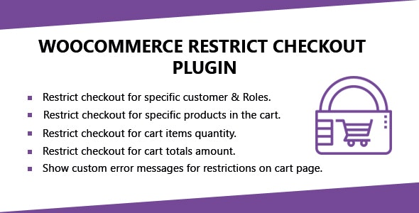 WooCommerce Restrict Checkout Plugin - CodeCanyon Item for Sale