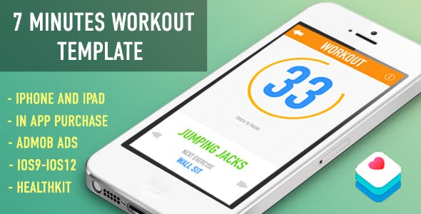 7 Minute Workout App Template