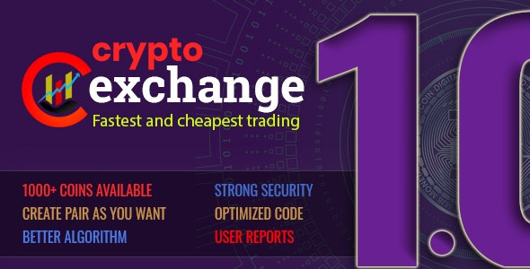 Crypto exchange - fast trading - CodeCanyon Item for Sale