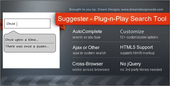 Suggester - the Plug-n-Play Search Tool