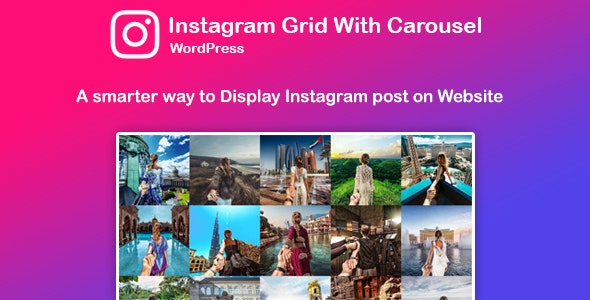 Wordpress Instagram Feed Plugin by Saraagna