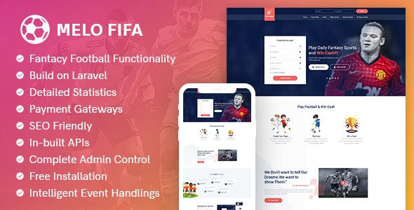 MeloFifa - Laravel Fantasy Football Sports Software - CodeCanyon Item for Sale