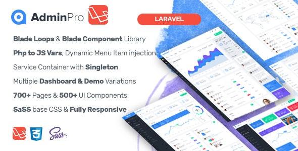 AdminPro Laravel Admin Template by MARUTI | CodeCanyon