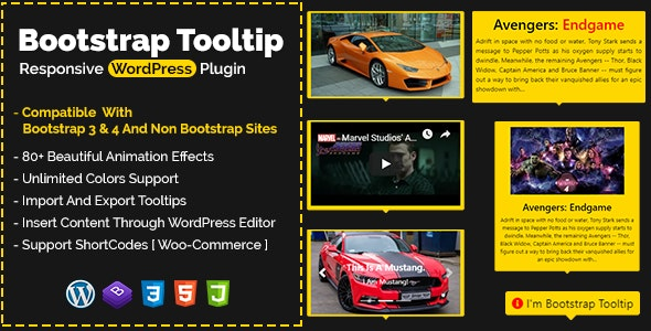Bootstrap Tooltip - Responsive WordPress Plugin - CodeCanyon Item for Sale