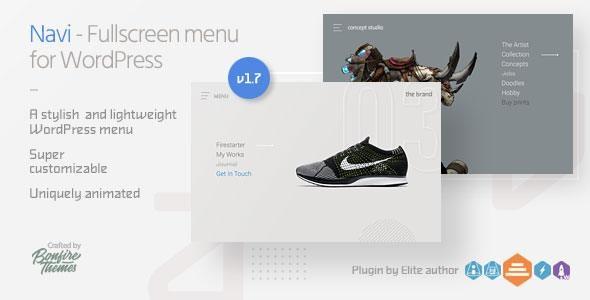 Navi: Fullscreen WordPress Menu - CodeCanyon Item for Sale