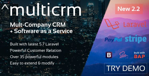 ^multicrm - Powerful Laravel CRM +Front End Software As A Service - CodeCanyon Item for Sale