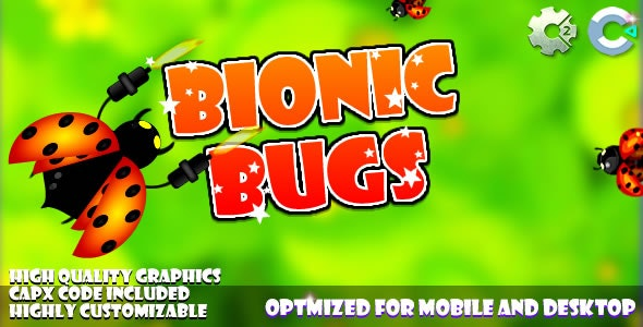 Bionic Bugs - (C2, C3, HTML5) Game. - CodeCanyon Item for Sale