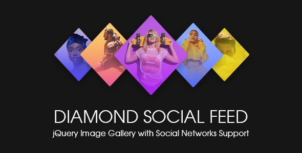 Diamond Social Feed - jQuery Image Gallery with Social Stream - CodeCanyon Item for Sale