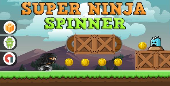 Super Ninja Spinner- Android studio & Eclips file + AdMob