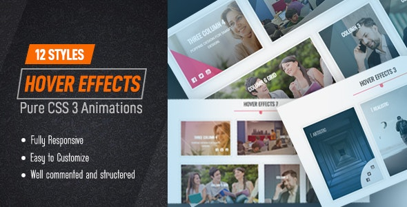 12 Styles | CSS3 Image Hover Effects - CodeCanyon Item for Sale