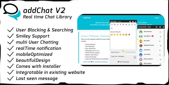 AddChat V2 - Realtime Chat Library