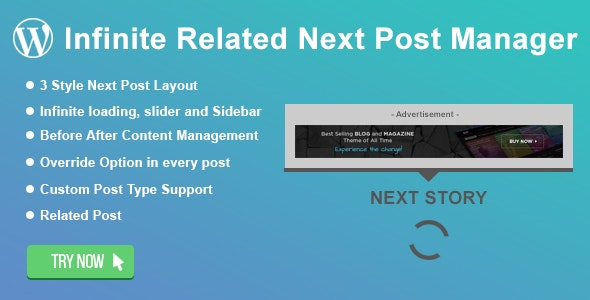 WordPress Infinite Related Next Post Manager - CodeCanyon Item for Sale