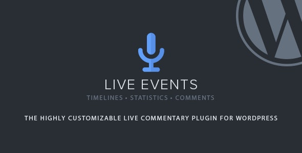Live Events - CodeCanyon Item for Sale
