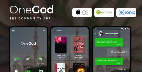 Community Android + iOS App Template | HTML + Css IONIC 3 | OneGod - CodeCanyon Item for Sale