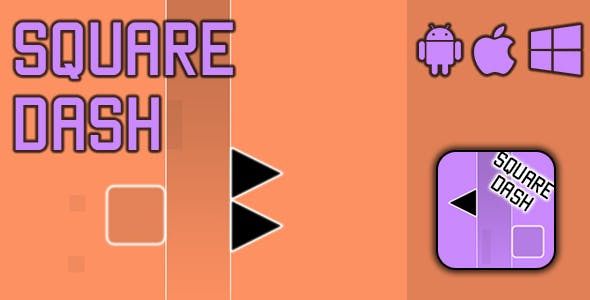 Square Dash - HTML5 Game (CAPX)