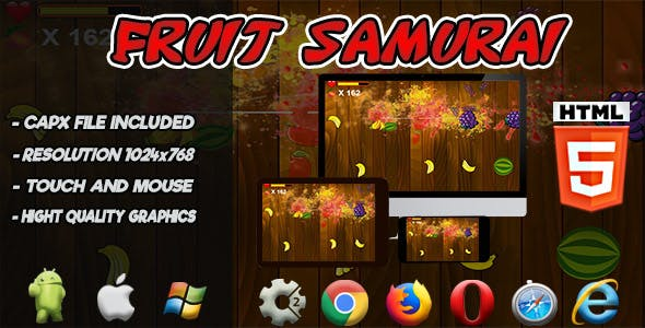 Fruit Samurai - HTML5 Game