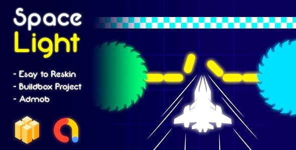 Space Light Game Template Buildbox + Admob