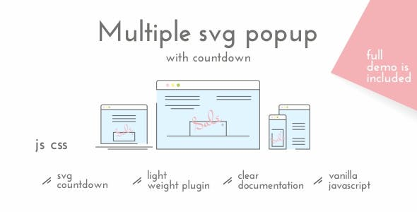 Multiple SVG Popup with Countdown