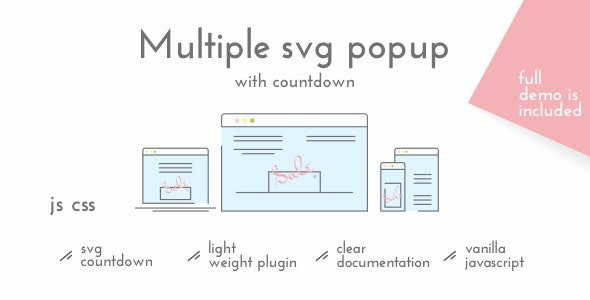 Multiple SVG Popup with Countdown - CodeCanyon Item for Sale