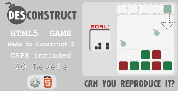 (des)Construct - HTML5 Puzzle Game - CodeCanyon Item for Sale