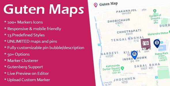 Guten Maps - Google Map Gutenberg Block