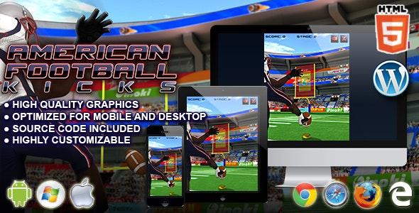 American Football Kicks - HTML5 Sport Game - CodeCanyon Item for Sale