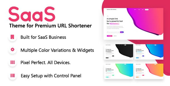 SaaS Theme for Premium URL Shortener