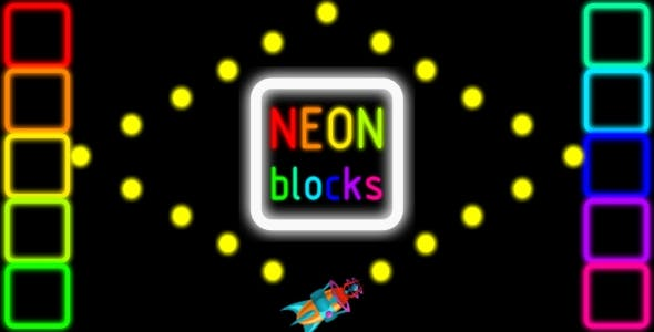 Neon Bloks - HTML5 PC&Mobile Game (Construct 2-3)