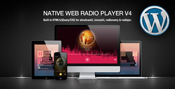 Native Web Radio Player WordPress Plugin