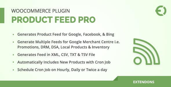 WooCommerce Product Feed Pro Plugin - Google, Facebook & More