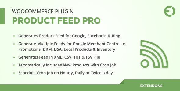WooCommerce Product Feed Pro Plugin - Google, Facebook & More - CodeCanyon Item for Sale