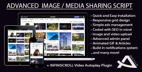 Avidi Media v3 - Premium Media Sharing Script (Photo, Video, Audio & Gifs)