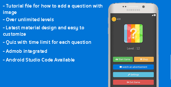 4 Apps in 1 bundle (Brain Game ,FlashLight ,Quotes ,HTML Color Codes) Android Studio + Admob