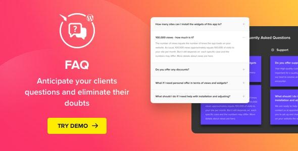 Accordion FAQ - WordPress FAQ Plugin - CodeCanyon Item for Sale