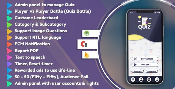 Make A Quiz App With Mobile App Templates from CodeCanyon