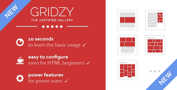 Gridzy – Responsive and Justified Image Grid Gallery