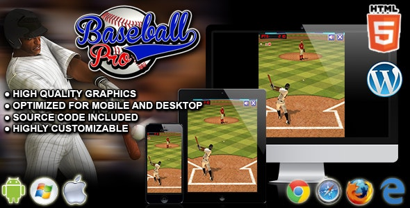Baseball Pro - HTML5 Sport Game - CodeCanyon Item for Sale