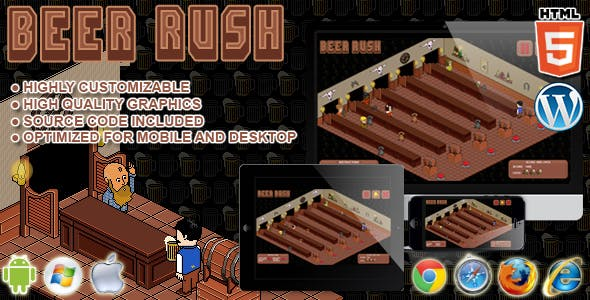 Beer Rush - HTML5 Arcade Game