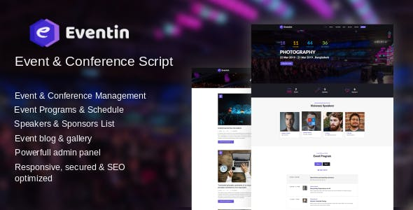 Eventin -  Event, Meetup and Conference Script        Nulled
