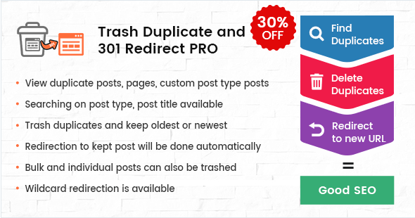Wordpress 301 Redirects Plugin by Solwin