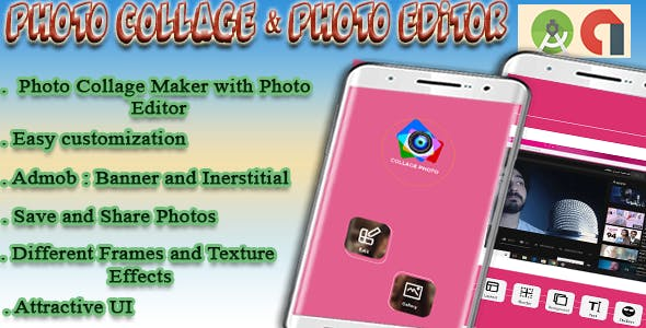 Photo Collage Maker & Photo Editor - Android Project with Admob