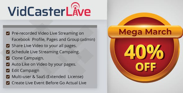 Auto Share, Live Stream Scheduling, and Live Streaming PHP