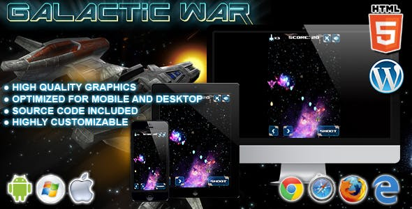 Galactic War - HTML5 Game