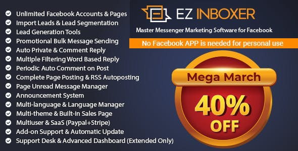 EZ Inboxer - Master Messenger Marketing Software For Facebook - CodeCanyon Item for Sale