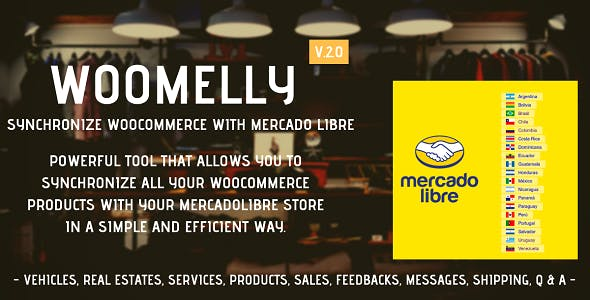 Sincroniza Woocommerce con MercadoLibre: Woomelly