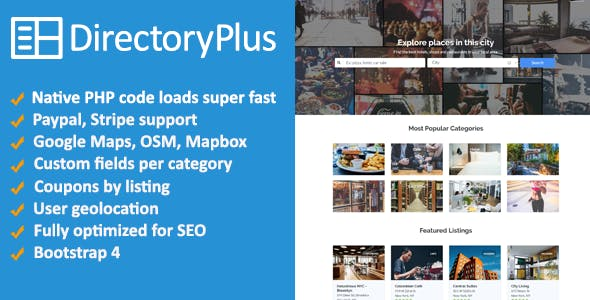 Directory Plus - Business Directory Script