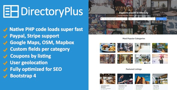Directory Plus - Business Directory Script - CodeCanyon Item for Sale