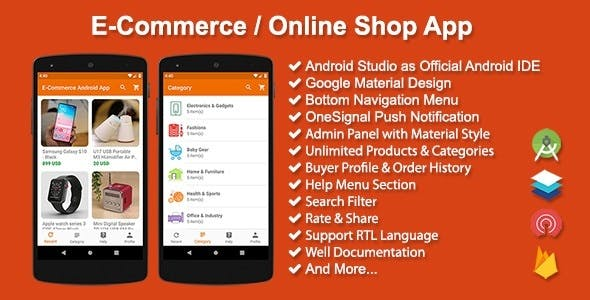 Make A eCommerce App With Mobile App Templates from CodeCanyon